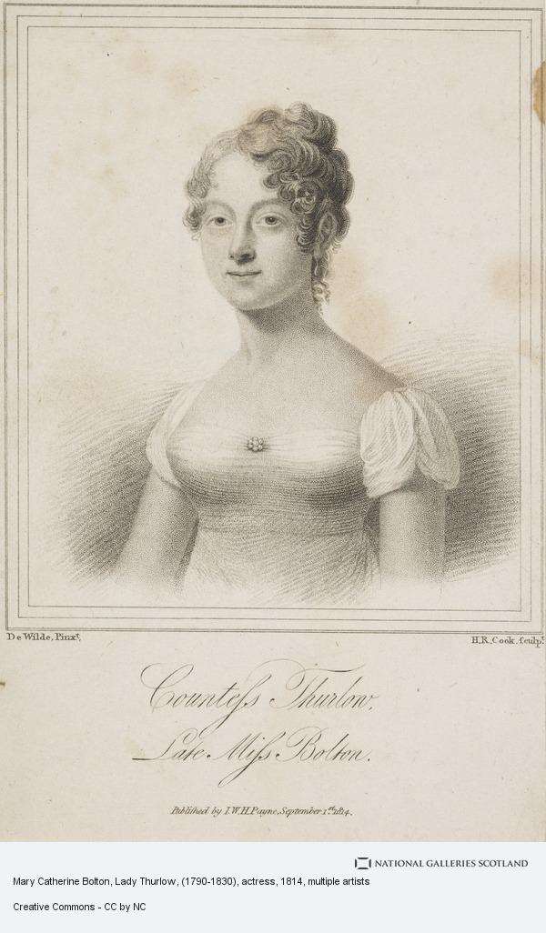 Henry Richard Cook, Mary Catherine Bolton, Lady Thurlow, 1790 - 1830. Actress