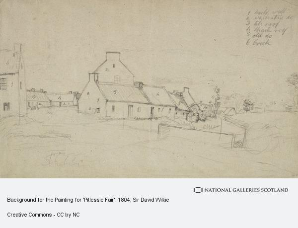 Sir David Wilkie, Background for the Painting for 'Pitlessie Fair' (About 1804)