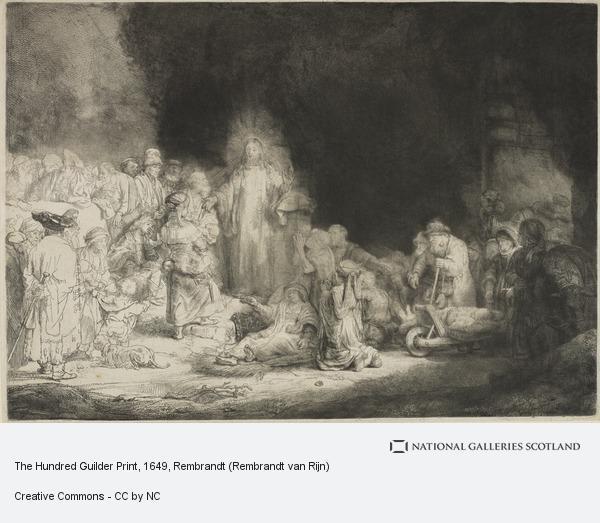 Rembrandt (Rembrandt Harmensz van Rijn), The Hundred Guilder Print (Bartsch no. 74 II/2)
