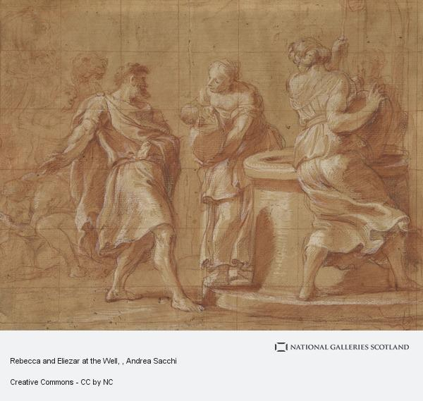 Andrea Sacchi, Rebecca and Eliezar at the Well