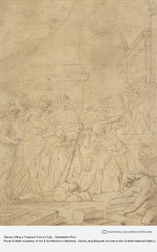 Sebastiano Ricci, Slaves Lifting a Treasure from a Crypt