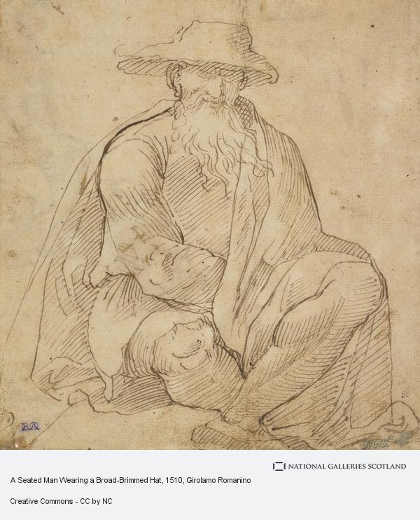 Girolamo Romanino, A Seated Man Wearing a Broad-Brimmed Hat