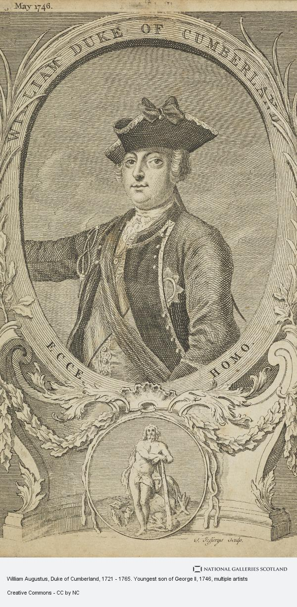 Thomas Hudson, William Augustus, Duke of Cumberland, 1721 - 1765. Youngest son of George II