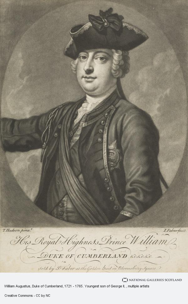 Thomas Hudson, William Augustus, Duke of Cumberland, 1721 - 1765. Youngest son of George II