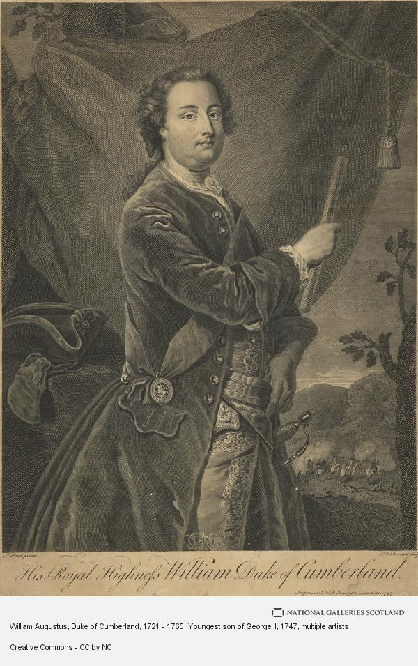 Simon François Ravenet, William Augustus, Duke of Cumberland, 1721 - 1765. Youngest son of George II (Published 1747)