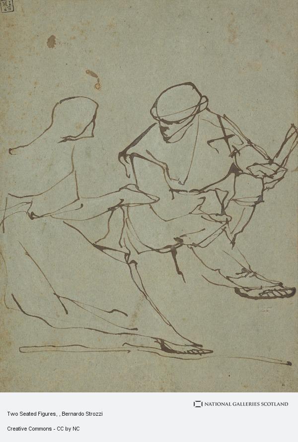 Bernardo Strozzi, Two Seated Figures