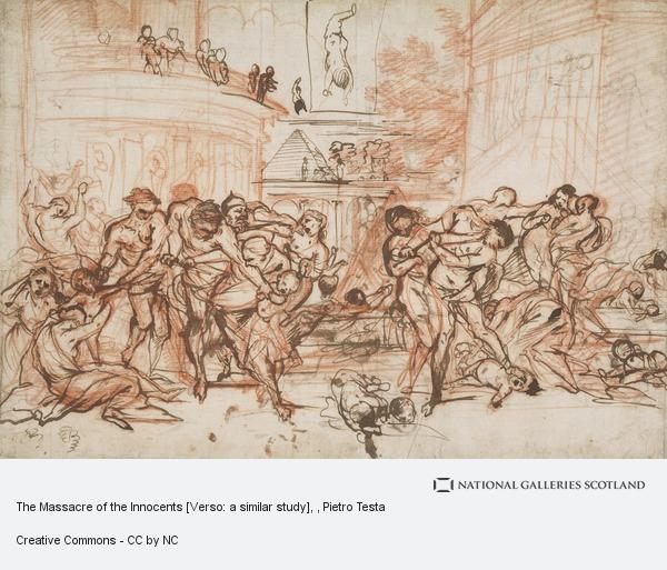 Pietro Testa, The Massacre of the Innocents [Verso: a similar study]