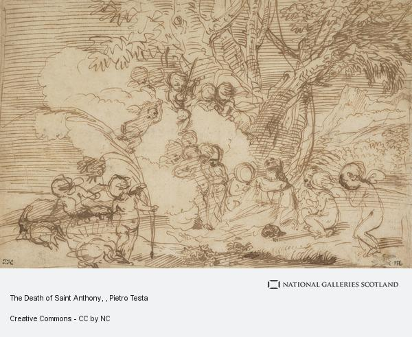 Pietro Testa, The Death of Saint Anthony