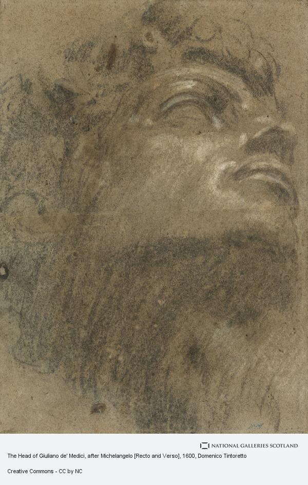 Domenico Tintoretto (Domenico Robusti), The Head of Giuliano de' Medici, after Michelangelo (about 1600)
