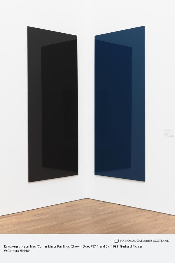 Gerhard Richter, Eckspiegel, braun-blau [Corner Mirror Paintings (Brown-Blue, 737-1 and 2)] (1991)