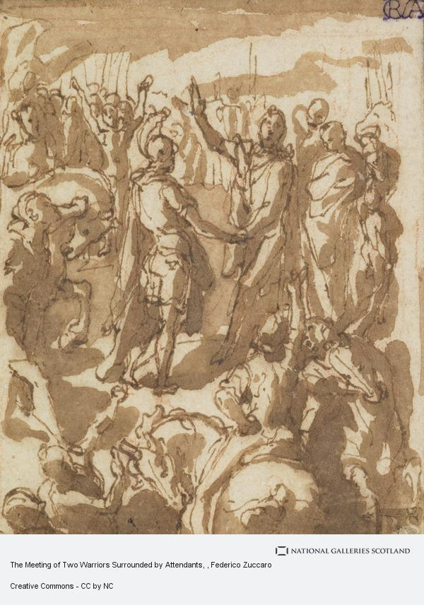 Federico Zuccaro, The Meeting of Two Warriors Surrounded by Attendants