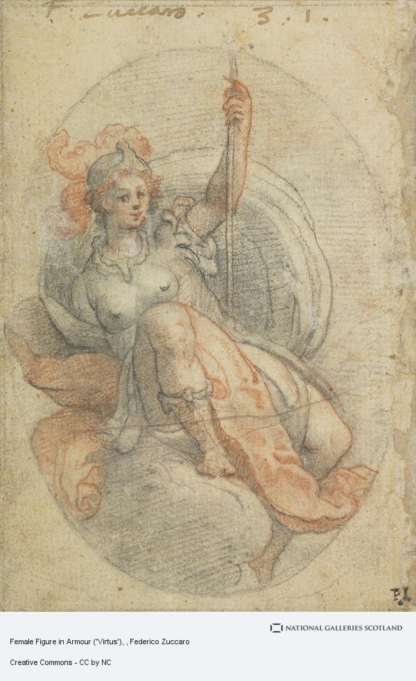 Federico Zuccaro, Female Figure in Armour ('Virtus')