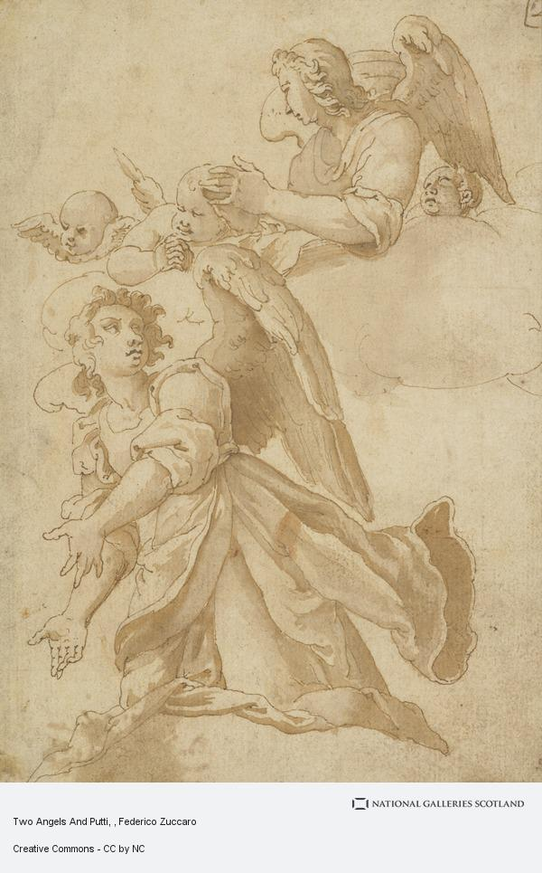 Federico Zuccaro, Two Angels And Putti