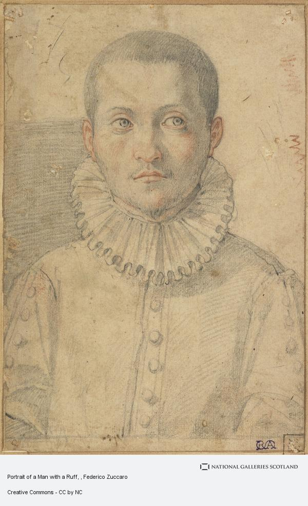 Federico Zuccaro, Portrait of a Man with a Ruff