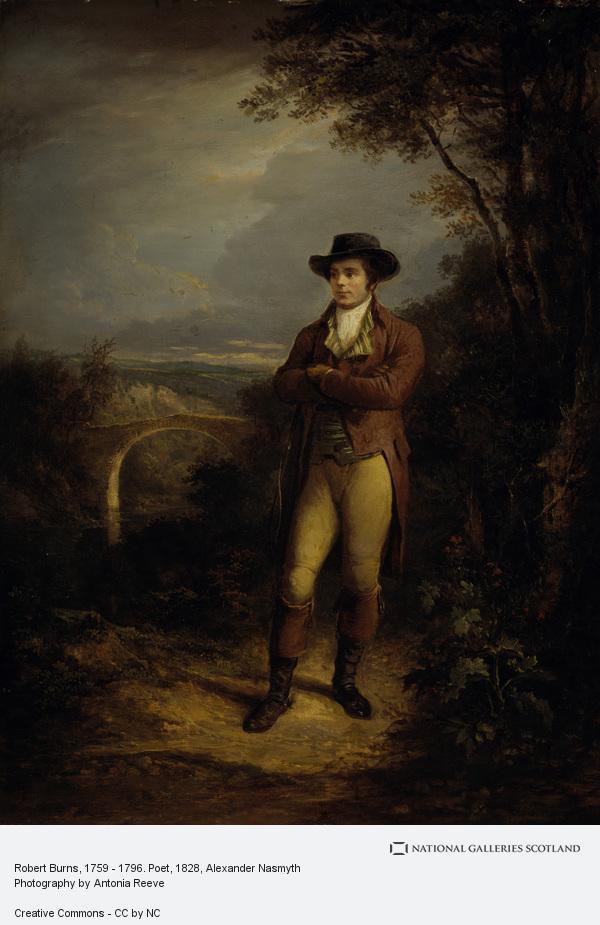 Alexander Nasmyth, Robert Burns, 1759 - 1796. Poet