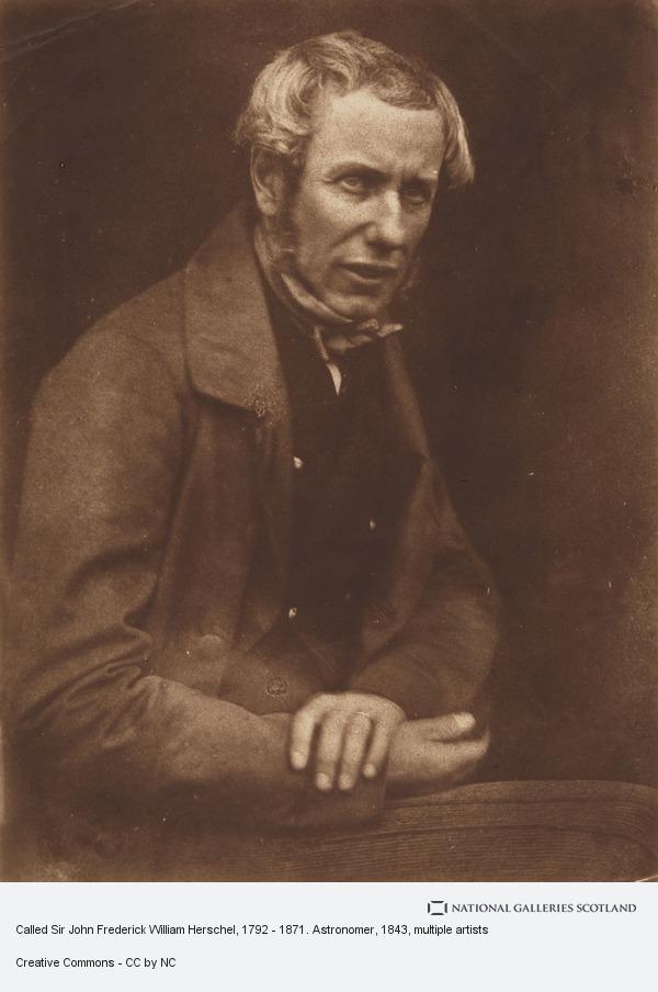 Robert Adamson, Called Sir John Frederick William Herschel, 1792 - 1871. Astronomer