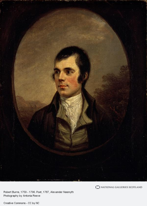 Alexander Nasmyth, Robert Burns, 1759 - 1796. Poet