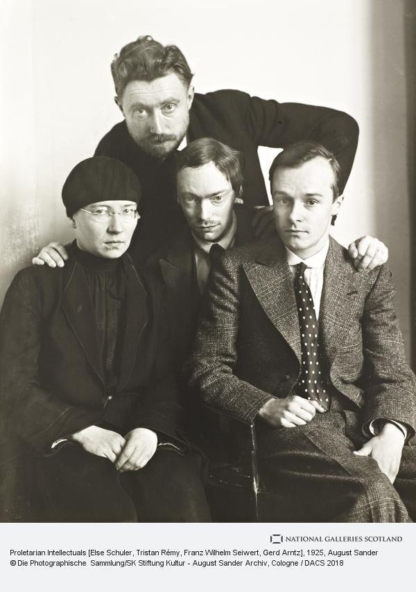 August Sander, Proletarian Intellectuals [Else Schuler, Tristan Rémy, Franz Wilhelm Seiwert, Gerd Arntz], about 1925 (about 1925)