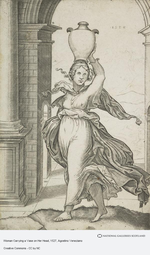 Agostino Musi, Woman Carrying a Vase on Her Head