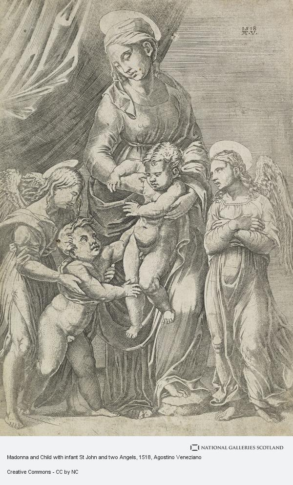 Agostino Musi, Madonna and Child with infant St John and two Angels