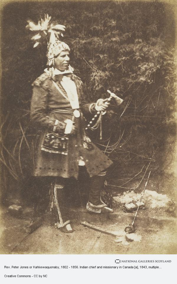 David Octavius Hill, Rev. Peter Jones or Kahkewaquonaby, 1802 - 1856. Indian chief and missionary in Canada [a]