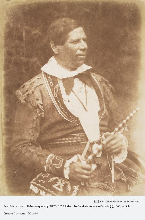 Robert Adamson, Rev. Peter Jones or Kahkewaquonaby, 1802 - 1856. Indian chief and missionary in Canada [c]
