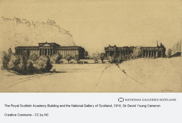 Sir David Young Cameron, The Royal Scottish Academy Building and the National Gallery of Scotland