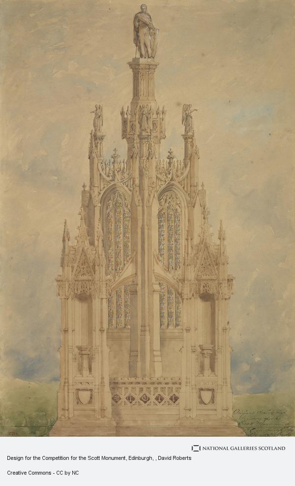 David Roberts, Design for the Competition for the Scott Monument, Edinburgh