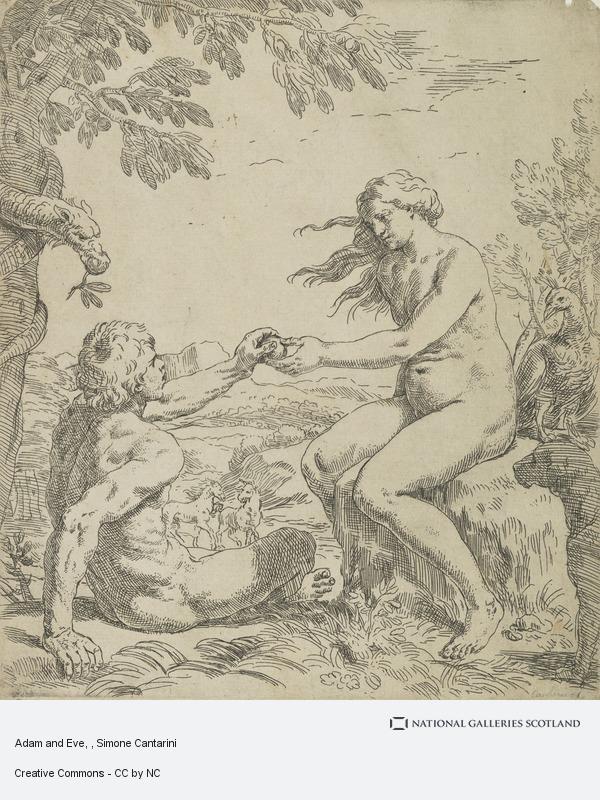 Simone Cantarini, Adam and Eve