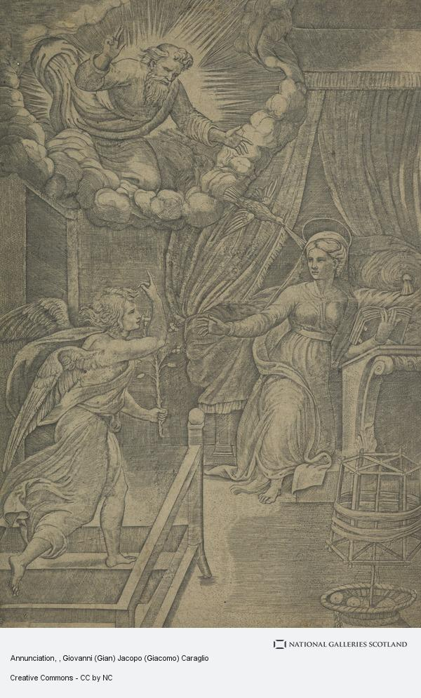 Giovanni (Gian) Jacopo (Giacomo) Caraglio, Annunciation