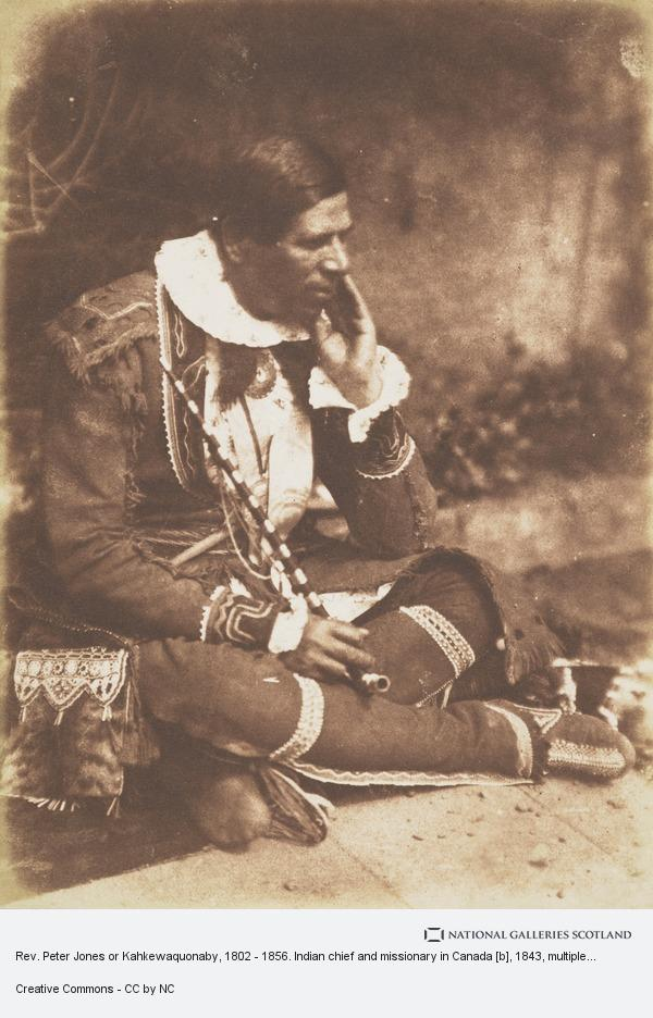 Robert Adamson, Rev. Peter Jones or Kahkewaquonaby, 1802 - 1856. Indian chief and missionary in Canada [b]
