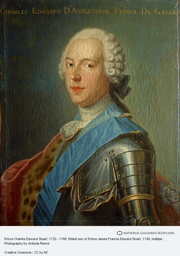 Unknown, Prince Charles Edward Stuart, 1720 - 1788. Eldest son of Prince James Francis Edward Stuart