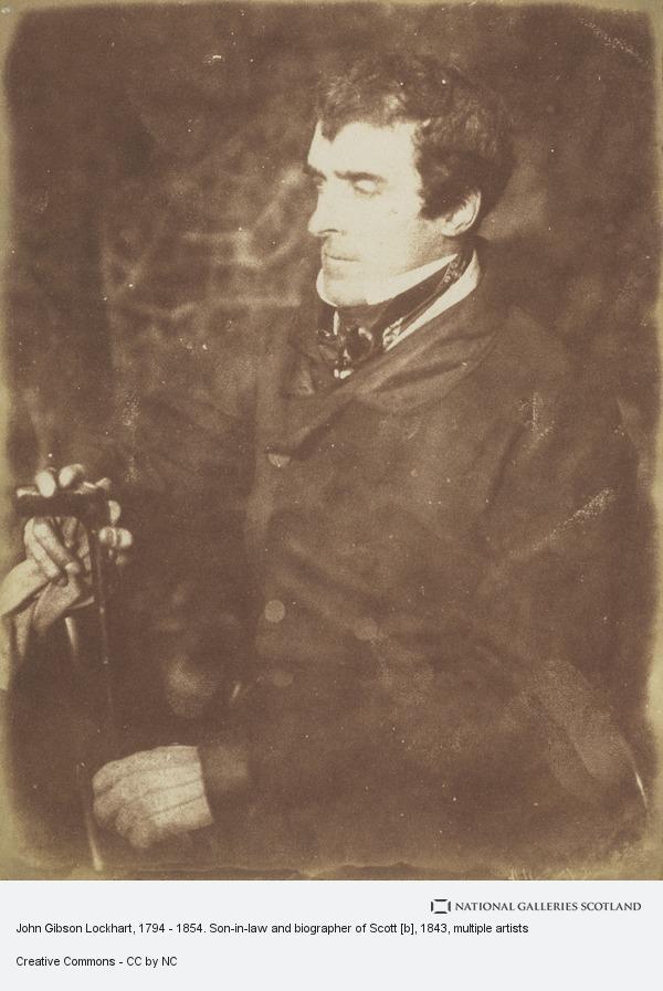 Robert Adamson, John Gibson Lockhart, 1794 - 1854. Son-in-law and biographer of Scott [b]