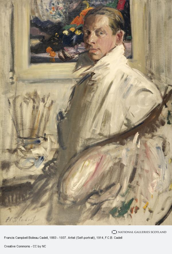 Francis Campbell Boileau Cadell, Francis Campbell Boileau Cadell, 1883 - 1937. Artist (Self-portrait)