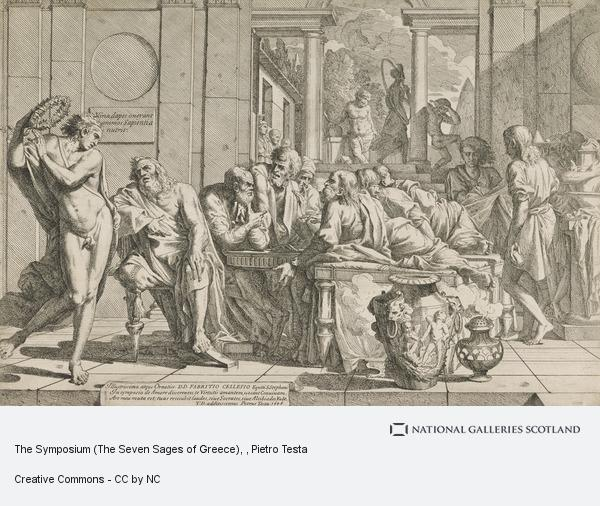 Pietro Testa, The Symposium (The Seven Sages of Greece)