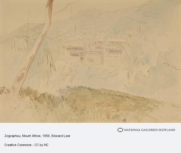 Edward Lear, Zographou, Mount Athos