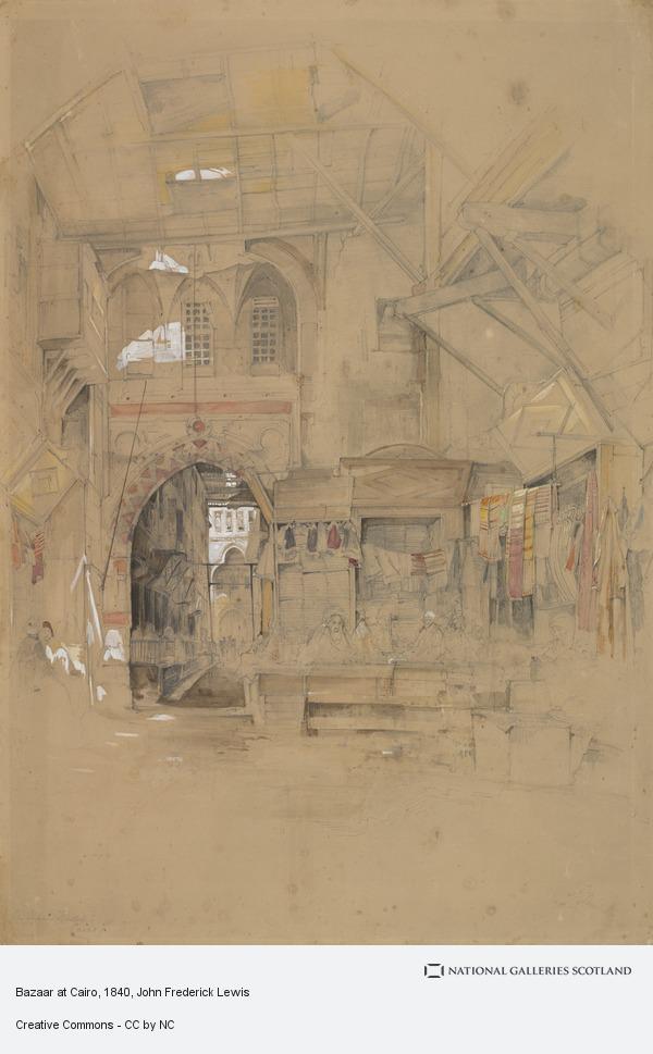 John Frederick Lewis, Bazaar at Cairo
