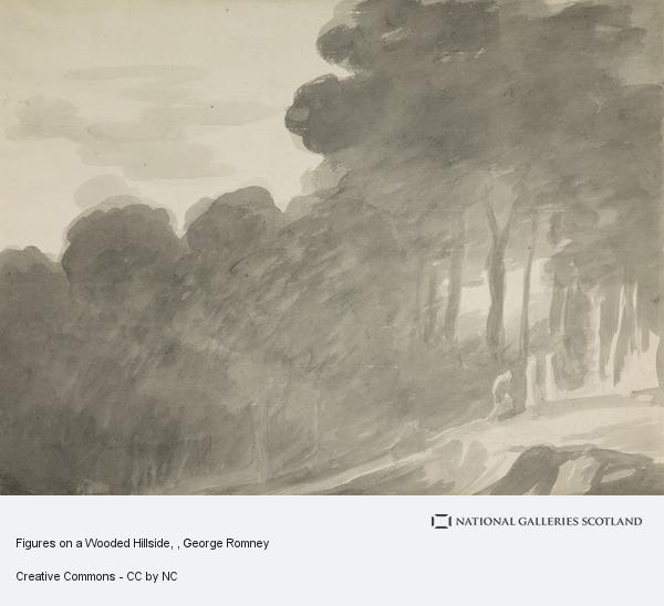 George Romney, Figures on a Wooded Hillside