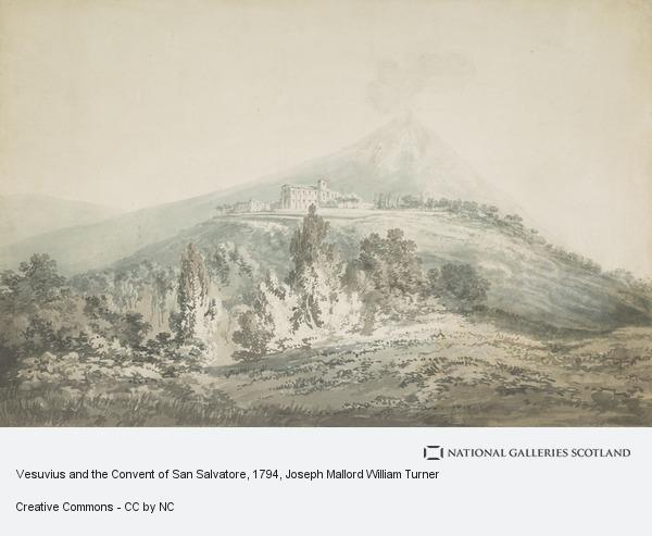 Joseph Mallord William Turner, Vesuvius and the Convent of San Salvatore (1794 - 1797)