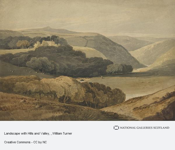 William Turner, Landscape with Hills and Valley
