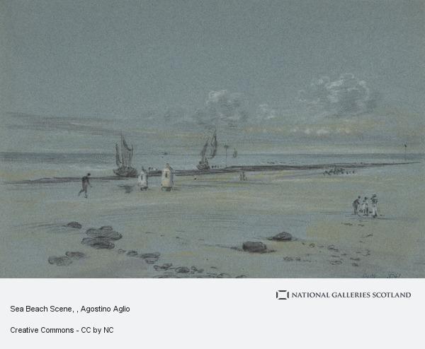 Agostino Aglio, Sea Beach Scene
