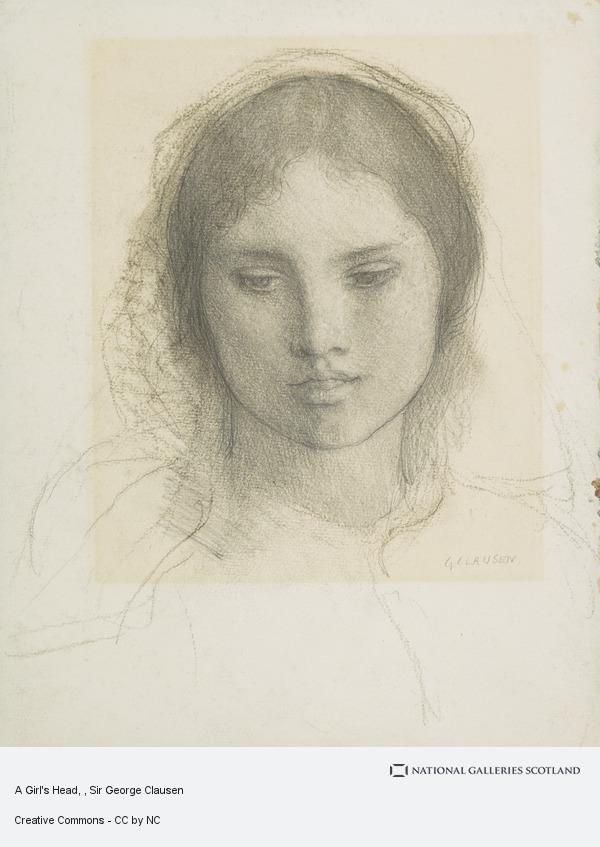 A Girls Head, Sir George Clausen. If you're ever in ... |Sir George Clausen Head Girls