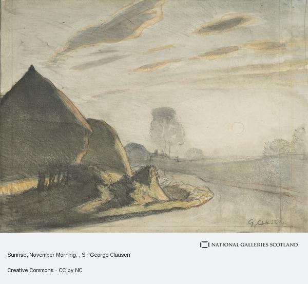 Sir George Clausen, Sunrise, November Morning