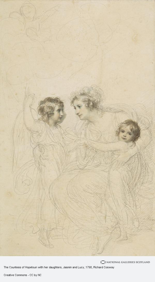 Richard Cosway, The Countess of Hopetoun with her daughters, Jasmin and Lucy
