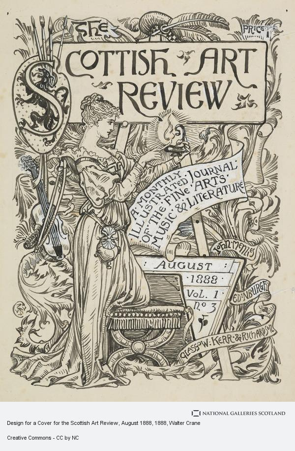 Walter Crane, Design for a Cover for the Scottish Art Review, August 1888