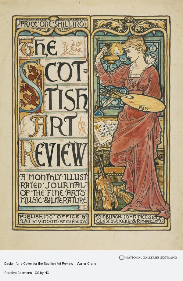Walter Crane, Design for a Cover for the Scottish Art Review