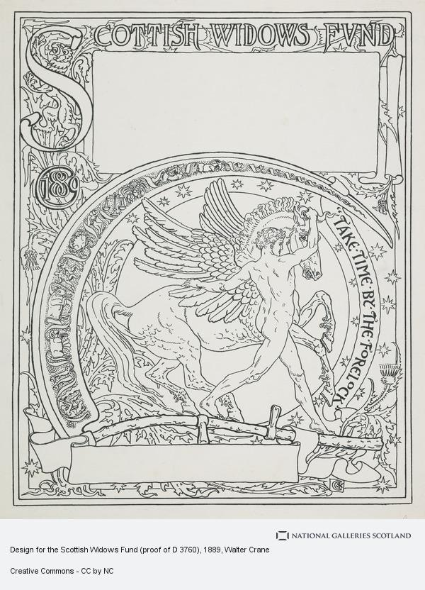 Walter Crane, Design for the Scottish Widows Fund (proof of D 3760)