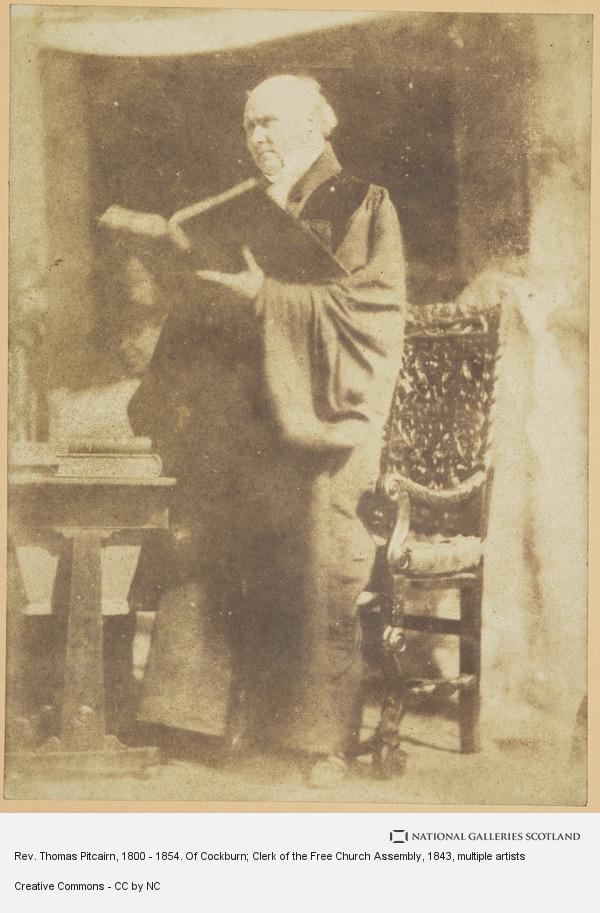 Robert Adamson, Rev. Thomas Pitcairn, 1800 - 1854. Of Cockburn; Clerk of the Free Church Assembly