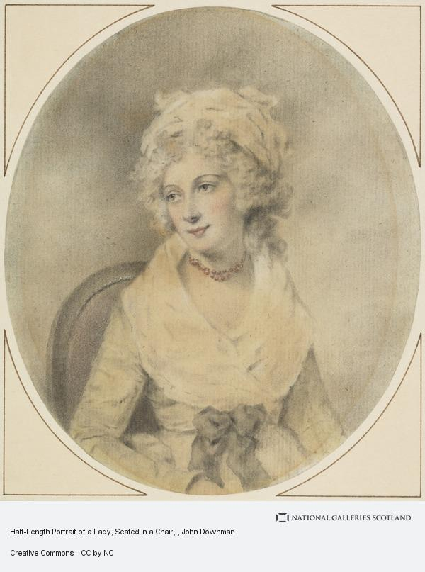 Half Length Portrait Of A Lady Seated