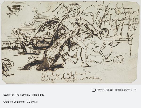William Etty, Study for 'The Combat'
